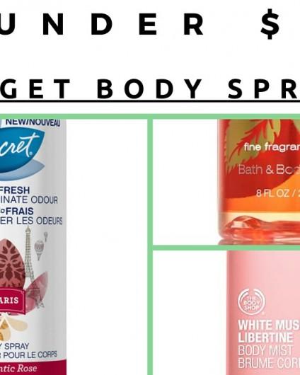 budget body sprays